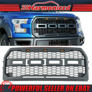 Fits 15 17 Ford F150 Raptor Style Front Bumper Grille Hood Grill Mesh Abs