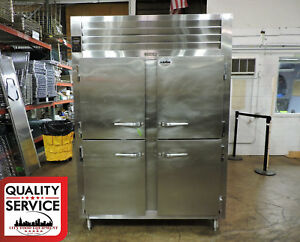 Traulsen Aht232wut Self Contained 2 section Half Length Door Refrigerator