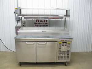 Asi Stainless Steel 64 Raised Rail Pizza Prep Table 2 Door Refrigerator 5 4
