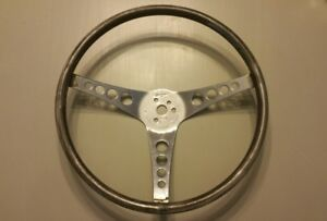 1960 s 4 Hole Pontiac Chevy Ford Superior The 500 Steering Wheel Bare Metal