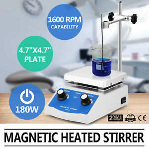 Sh 2 Magnetic Stirrer Hot Heating Plate Dual Controls Stir Bar Holder Electric