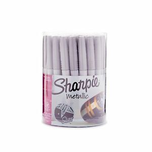 Sharpie 9597 Metallic Permanent Markers Fine Point Silver 36 Pack 36 count