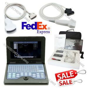 Usa Lcd Laptop Ultrasound Scanner Machine 3 5mhz Convex 7 5mhz Linear 2 Probes