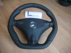 Mercedes Rare Small Thick Steering Wheel Flat Bottom R129 W140 W124 W210 W202 Cl