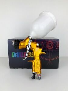 Paint Spray Gun Devilbiss Gti Pro Lite 1 3mm T110 Gold Cup New From Us Seller