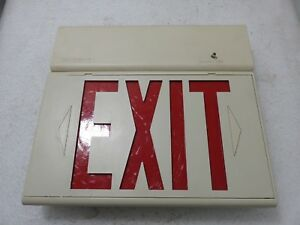 Halo Sure lites Lighting Exit Sign With Lamps
