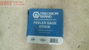 Precision Brand Feeler Stock 19365 Thickness Gauge 009