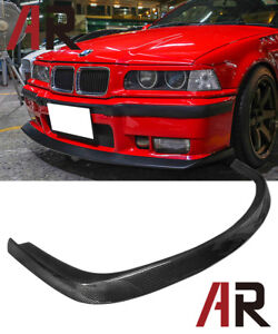 Ac Style Carbon Fiber Front Bumper Lip For 1992 1998 Bmw E36 M3 2dr 4dr Only