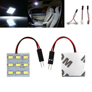 50pcs T10 Ba9s Festoon Adapters 5630 9smd Panel Lights Led Car Interior 12v Lamp