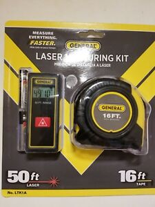 General Tools Laser Measuring Kit 50 Ft Laser Plus 16ft Tape Measure