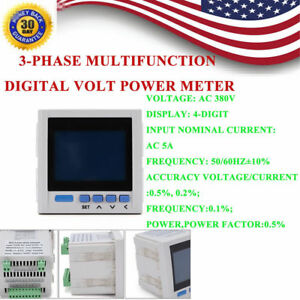 3 phase Multifunction Digital Volt Amp Power Meter Energy Accumulation Pro Meter