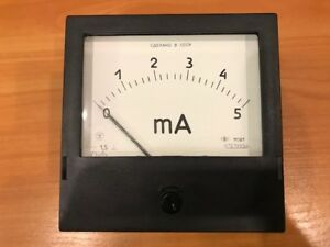 Vintage Russian Panel Meter Dc 0 5ma M381 Nos Lot Of 1