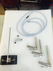 Fiber Optic Operating Laryngoscope With Fiber Optic Cable Chest Support