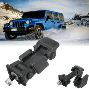 For 2007 2017 Jeep Wrangler Jk Hood Hold Down Catch Lock Latch 2pcs Brackets Hm1