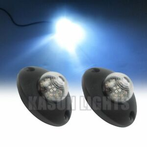 6 W White Led Hide Away Emergency Flash Vehicle Hazard Warning Strobe Lights