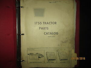 Oliver White Cockshutt 1755 Tractor Parts Catalog Book Manual Original 1971
