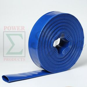 2 X 100 Ft Feet Pvc Lay Flat Discharge Water Pump Hose Camlock Connector