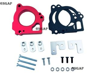 Red Billet Throttle Body Spacer Fit 1999 2002 Jeep Grand Cherokee 4 7l V8