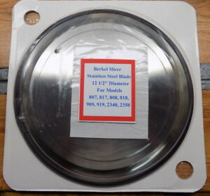 Berkel Slicer Stainless Steel Blade 01 403675 00070 For 807 817 808 818 909 909