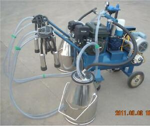 Gasoline electric Milking Machine Cows Double Tank Extras Fedex