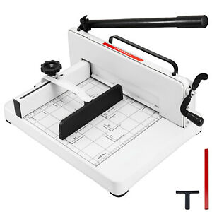 New Heavy Duty Guillotine Paper Cutter 12 Trimmer Commercial Metal Base A4