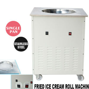 Fried Ice Cream Roll Machine Single Pan Commercial Fried Milk Yogurt 1050 W Usa
