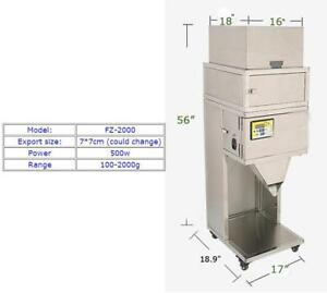 Powder Filling Machine Range 110v 100 2000g Vibratory Filler Seed Tea Powder