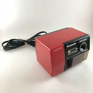 Vtg Panasonic Pencil Sharpener Kp 123 Cherry Red Auto stop Made In Japan Tested