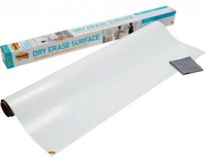 Post it Super Sticky Self stick Instant Dry Erase Film Surface 4 X 3 ft 12 Sq