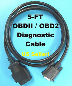 15 Pin Female To Obd2 Cable Compatible With Autel Maxidiag Elite Md802 Scanner
