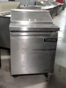 Used 27 Continental Sw27 8 Sandwich Prep Table