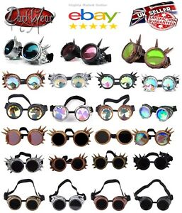 Welding Cyber Goggles kaleidoscope steampunk cosplay antique victorian spikes