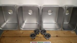 Large 3 4 Compartment Portable Concession Sink basins drains Value Set