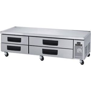 Blue Air Commercial Refrigerated Chef Base 87 With 4 Drawers