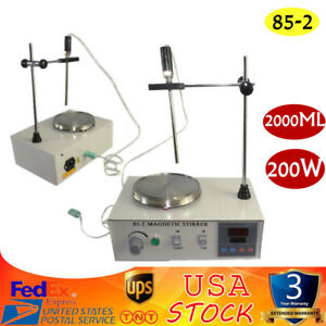 Magnetic Stirrer With Hotplate Digital Mixer Heating Plate Control 110v 2000ml