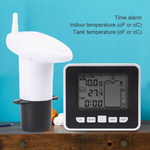 Wireless Ultrasonic Water Tank Level Meter Sensor W thermometer Transmitter 100m