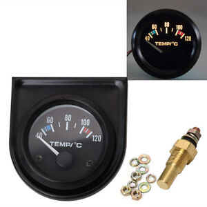 Universal Car Auto 2 52mm Digital Led Water Temp Temperature Gauge Kit 40 120