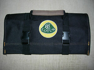 Lotus Logo Elan Esprit Europa Heavy Canvas New All Black Tool Roll