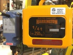 Harrington Electric Chain Hoist 1 4 Ton Remote Pendant Chained Up To Your Needs