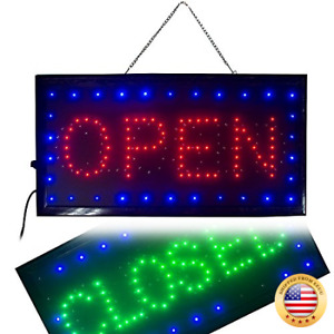 Ovovo Ultra Bright Led 2 In 1 Open Closed Sign Business Signs For Drink Food R