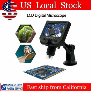 Automatic Lcd Digital Microscope Magnification Recorder Camera Video Magnifier