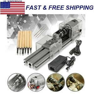 Mini Lathe Beads Machine Wood Working Diy Polishing Drill Rotary Tool Dc 24v