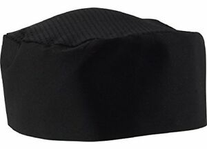 Black Chef Hat Adjustable One Size Fit Most 6