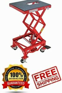 Hydraulic Motorcycle Lift Table 300 Lb Extreme Max Easy To Use Foot Pedal