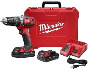 Milwaukee Hammer Drill Driver 1 2 In Kit 18v L ion Cordless Battery Charger Case