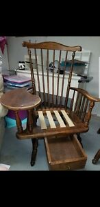 Heywood Wakefield 1960 S Maple Teacher S Arm Chair With Writing Desk Windsor