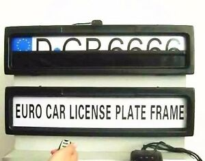 Avaparts Electric License Plate Frame Shutter Curtain Euro Type 2 Pcs In Set New