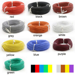 30awg 2awg Chose Colors Ul Strand Silicone Soft Cable 600v 200 0 08mm Rc Wire