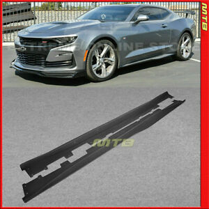For 16 18 Chevy Camaro Ss Rs Abs Side Skirts Panels Extension Body Kit Zl1 Style