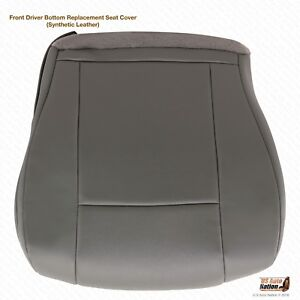 2011 2012 Ford E250 E350 Van Driver Side Bottom Seat Cover Perforated Gray Vinyl